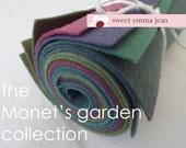 """9x12 Wool Felt Sheets - The """"Monet's Garden"""" Collection - 8 Sheets of Felt"""