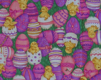 Easter Chickens And Easter Egg Fabric Cottage Chic Shabby Chic Easter Decor