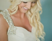 Crystal Bridal Headband- Opal and Crystal Bridal Bandeau
