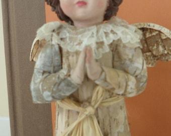 Unusual Looking Vintage Angel Figurine