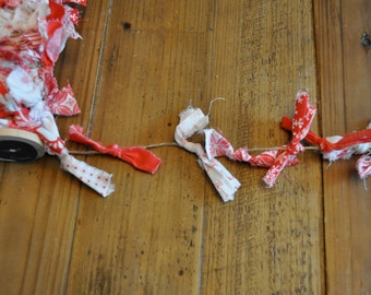 Red and White Holiday Scrappy Bunting