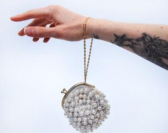 Vintage Pearl Beaded Wristlet Purse    The Broadway