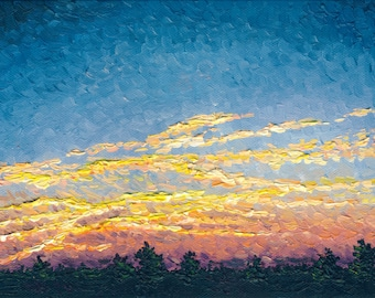 Twilight Sunset, 6 x 12 in., giclee print