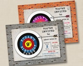 Shoot Over for an Archery Party Custom Photo Card Invitation Design- any age