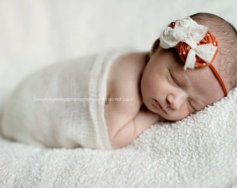 Pumpkin Pie- double rosette headband