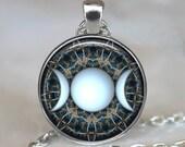 Triple Goddess pendant, Wiccan jewelry, Moon Goddess jewelry, Wiccan necklace, Goddess necklace Goddess jewelry keychain key fob