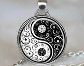Yin Yang necklace, Yin Yang pendant, yoga necklace, yoga jewelry, yoga pendant zen jewelry, meditation jewelry key chain