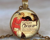 Clinique Cheron pet lover pendant, veterinarian gift, animal lover's pendant, animal lover's necklace animal lover's gift