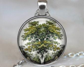 Yggdrasil pendant, Yggdrasil World Tree pendant, Norse jewelry, Norse mythology pendant, World Tree necklace keychain key chain