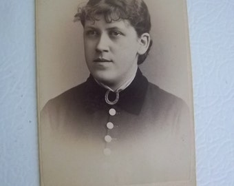 Antique Photo CDV Woman IDed as F. M. Winchell