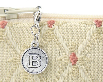 Clip on charm personalizes bridesmaid clutch with initial - traditional wedding embellishment - womens gift for wedding party