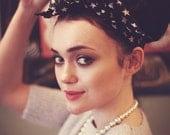 Star Hair Scarf, Star Headband, Star Print Headscarf, Starry Hair Tie