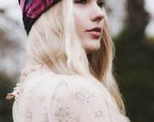 Rose Turban Headband, Pink Rose Headband, Pink Rose Turband, Floral Headband, Spring Headwrap