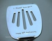 I flippin love you - Anniversary gift - 11th Anniversary Steel - hand stamped spatula