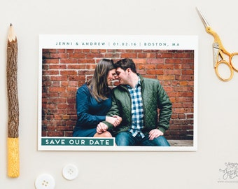 SAVE THE DATE - Sleek Request Save the Date Photo Save the Date Cards by Sincerely, Jackie