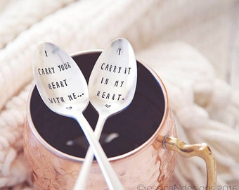 I Carry Your Heart, I Carry it in My Heart - Coffee Spoon Set for Lovers this Valentine's Day