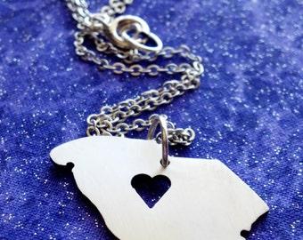 I Heart South Carolina - Necklace Pendant or Keychain