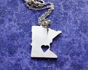 I Heart Minnesota - Necklace Pendant or Keychain