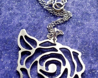 Rose Bullseye Charm Necklace Key Chain or Pendant