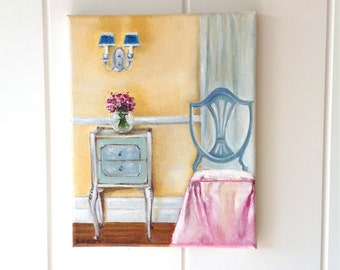 "Original Oil Painting - Titled ""Have A Seat"""