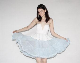 Vintage 50s Crinoline - 50s Pastel Blue Crinonline - The Sky is Falling Skirt  - 8077