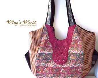 diaper bags designer cheap e2w3  Pink Tribal Style Totes Bags/ Shopping Bag/ Diaper Bags/ Designer Bag/  Women Bags/ Shoulder Bags/ Hand Bags