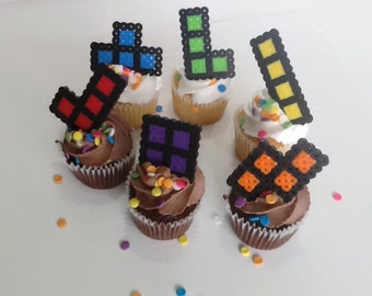 Tetris Etsy - Tetris birthday cake