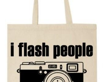 I Flash People Tote Bag