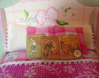 Miniature Dollhouse Three Childrens Books One Inch Scale 1:12