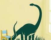 BRACHIOSAURUS DINOSAUR Vinyl art dino stickers - Nursery & kids decor