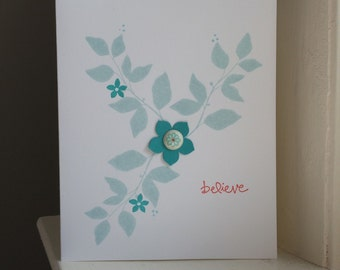 Believe Floral Greeting Card