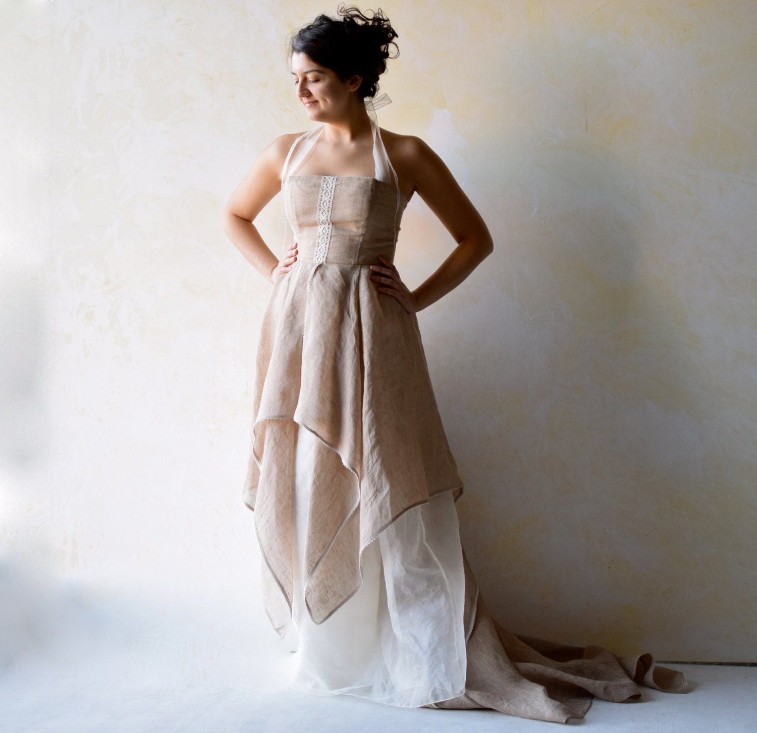 Wedding dress woodland wedding dress wedding gown fairy for Have wedding dress made