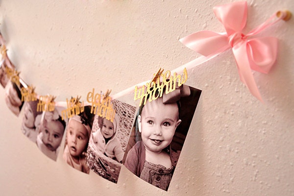 Pink and Gold First Birthday Decorations Handcrafted in 35