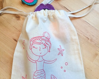 Drawstring Bag: Mermaid Girl