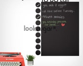 Chalkboard Wall Decal - To-Do List - 0024