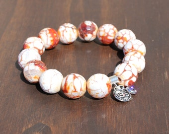 Agate and Om Energy Bracelet