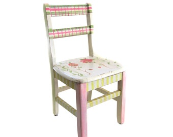 SALE Child's Painted Cottage Chic Chair