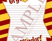 Gryffindor POW! Harry Potter Hogwarts Houses Stationery