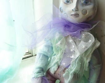 OOAK Sculpted Moon Art Doll: Lonely Lord Luna