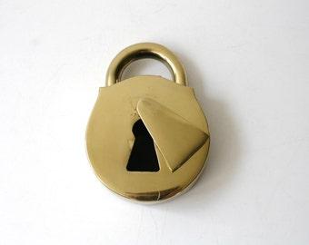 Lock and Keyhole Brass Ashtray