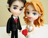 "Standard ""3 Groom and Bride - Wedding Cake Topper - ORIGINAL OOAK Miniature Sculptures - Decor"