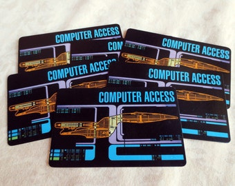 6 Star Trek Next Generation Computer Access Vintage Game Cards