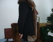 REDUCED fifty dollars off//Vintage 40s Rosenblum Fox Coat // Silver Fox Pedigree with number Free Shipping in USA