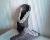 Felted men slippers  - men house shoes - Felted slippers for men - felted wool clogs - 100 % organic wool - Father's day gift
