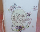 1915 ANTIQUE Bridal, Wedding Gift Book w/ Certificate...Pink ROSES & VIOLETS Lithograph...Sale