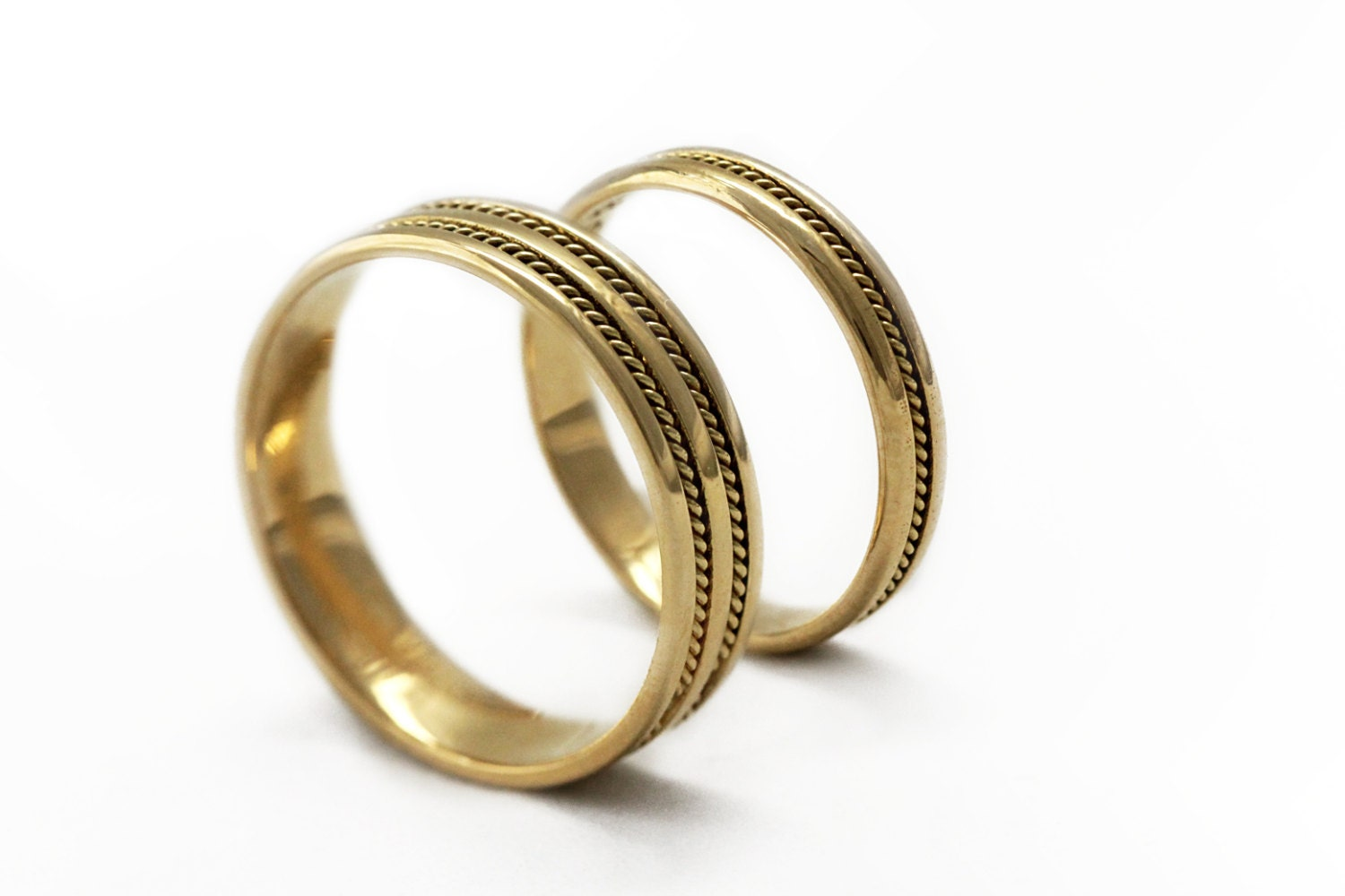 zoom - Gold Wedding Ring Sets