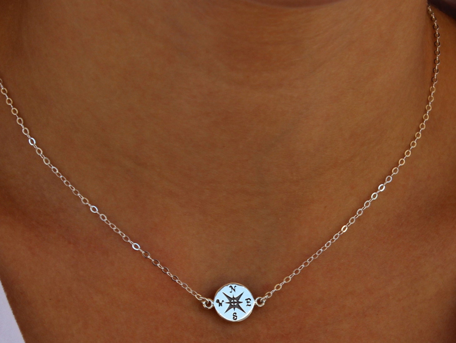 compass necklace sterling silver let your compass be your