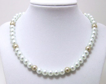 Medieval Necklace - Renaissance Jewelry - Medieval Jewelry - Pearl Necklace, Tudor Jewelry, Anne Boleyn, Elizabethan