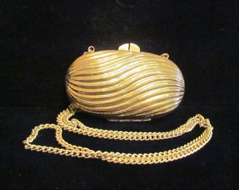 Vintage Gold Purse Clutch Purse Shoulder Handbag Formal Purse Wedding Purse Antique Art Deco Purse Shoulder Purse Evening Bag Bridal Purse
