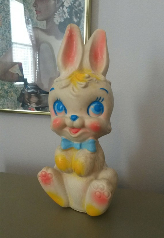 1960 S Bunny Rabbit Rubber Toy